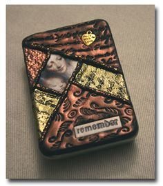 Here is a polymer clay collage tin I made in a CHA class taught by Lisa Pavelka. I'm always impressed with what a wonderful public speaker & teacher she is.