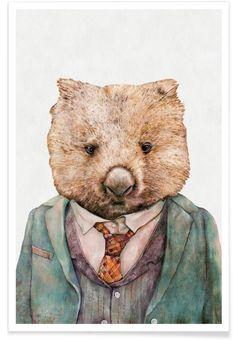 Wombat as Premium Poster by Animal Crew | JUNIQE