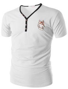 Doublju T-Shirt with Button Detail (CMTTS029) #doublju
