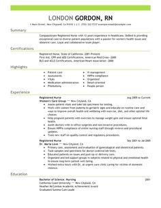 Nursing Resume Examples, Nursing Resume Template, Free Resume Examples, Resume Templates, Rn Resume, Sales Resume, Student Resume, Resume Format, Resume Tips