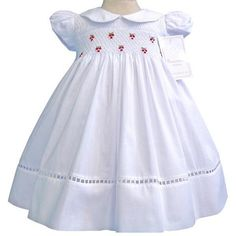 Elegant Heirloom Embroidered Girls White Dress for Special Occasions--Carousel Wear - 2