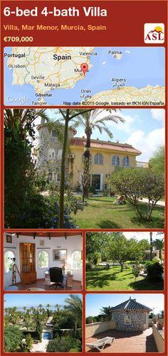 Villa for Sale in Villa, Mar Menor, Murcia, Spain with 6 bedrooms, 4 bathrooms - A Spanish Life Valencia, Portugal, Murcia Spain, Ground Floor, Swimming Pools, Spanish, Bbq, Villa, Flooring
