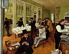 A Cotton Office in New Orleans (1873) by Edgar Degas