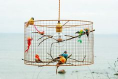 Copper Birdcage Pendant Light Chandelier by Kekoni on Etsy
