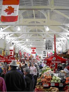 City Market at St. John, New Brunswick, Canada This building was built by boat makers...  Check out the ceiling.  Looks like the bottom of a boat, doesn't it?