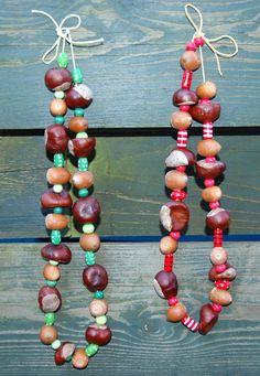 Herfstketting- DIY herfst- knutselen herfst- DIY autumn- necklace- ketting…