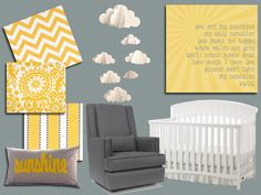 You are my sunshine theme for the baby nursery