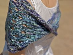 Beautiful moebius shrug - free pattern lapseb2 by muriqui, via Flickr
