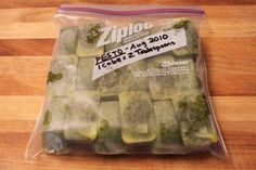 frozen pesto so you can make it fresh and have it last. Freezing Pesto, Freezing Fruit, Homemade Apple Pies, Homemade Sauce, Homemade Pesto, Cantaloupe Jam Recipes, Canned Potatoes, Snack Recipes, Cooking Recipes