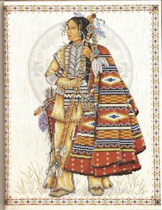 Indian Cross Stitch   Cross Stitch Favorites: Indian Maiden & Indian Warrior
