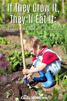 If They Grow It Theyll Eat It: Edible Gardens For Preschoolers. Preschoolers are curious about the world around them so engage all their senses with a garden to help them learn about healthy food! Body Preschool, Preschool Activities, Preschool Garden, Spring Activities, Outdoor Activities, Growing Herbs, Growing Vegetables, Gardening Gloves, Gardening Tips