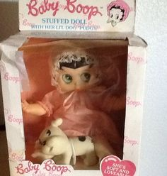 Vintage Baby Betty Boop Rubber Face Baby Doll Pudgy Dog in Original Box | eBay