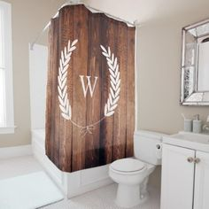 #country - #Farmhouse Rustic Country Bow Laurels Wood Planks Shower Curtain