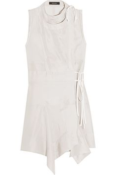 ISABEL MARANT Lewin Wrap-Effect Silk Mini Dress. #isabelmarant #cloth #dresses
