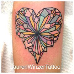 Crystal heart tattoo - Lauren Winzer
