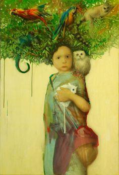 """Jun Ho Cho, Germany. Possibly a """"My Tree Self"""" themed project idea."""