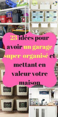Pour moi, les garages sont des pièces sous-exploitées. Nous empilons de multiples objets que nous ne voulons plus dans la maison et nous retrouvons un garage rempli d'objets indésirables. Nous perdons un temps énorme à trouver un objet alors je pense qu'il est temps de le réorganiser afin de stocker votre voiture et les objets du garage.#garageorganization #organisation #conseils #diyhomedecor #rangement #ideedeco #deco #décoration