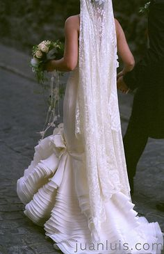 Flamenco style wedding dress