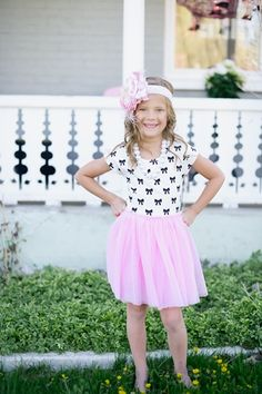 Bow Tutu Dress | Taylor Joelle Designs Baby and Children's Clothing Boutique