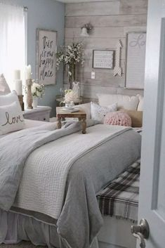 Related posts: 80 Cozy Small Master Bedroom Decorating Ideas 80 Cozy Small Master Bedroom Decorating Ideas 60 Farmhouse Master Bedroom Decorating Ideas 47 Best Bedroom Organization Ideas For Small Bedroom Small Master Bedroom, Farmhouse Master Bedroom, Cozy Bedroom, Home Decor Bedroom, Master Bedrooms, Trendy Bedroom, Modern Bedroom, Bedroom Romantic, Bedroom Rustic