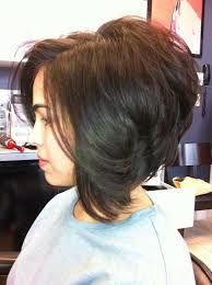 Image result for short stacked layered bob