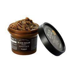 SKINFOOD Black Sugar Perfect Essential Scrub 2X Face Care Exfoliate +Smooth Skin Revitalize+Mask+ Moisturize Deep Cleansing 210g