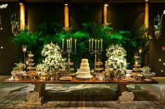 Decoração de casamento Verde e branco