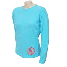 Comfort Colors Tee ($17) ❤ liked on Polyvore featuring tops, t-shirts, black, women's clothing, long sleeve tees, monogrammed shirts, monogrammed long sleeve t shirt, long sleeve tops and monogram t shirts