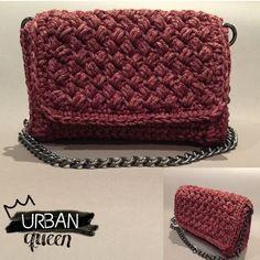 Handmade crochet flap bag by Urban Queen Handmade Bags, Chanel Boy Bag, Crocheting, Urban, Shoulder Bag, Queen, Closet, Chrochet, Handmade Purses