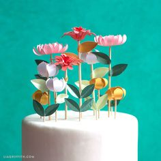 One way to add in a little floral accent to a wedding or celebration is to make flower cake toppers. They are super easy to craft and they can really ele...