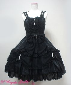 Blossom Princess JSK (Black) - Angelic Pretty