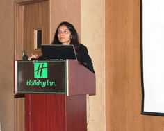 Sonal Sheth, AVP - Custom Learning Solutions presenting her team's annual report