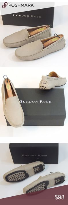 NIB Gordon Rush Driving Moccasins Brand new in box.  These have very cool bottoms with a supportive heel. Gordon Rush Shoes Loafers & Slip-Ons