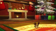 12/10 サンタさん、まだかにゃー。ジングルモーモンの帽子がかわゆすだなあ。