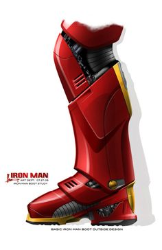 The Motherlode of Iron Man Concept Art.    HAH. Now I know iron mans real ploy.  He wants to go sking in his suit thats why his boots look identical to ski boots!!!!