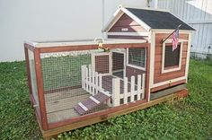 Rabbit Guinea Pig Bunny Small Animal Pet Hutch House Habitat Cage Coop Wood