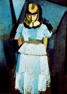 "Danish painter Harald Giersing, ""Ung Dame i Blåt"" - (young lady in blue)."