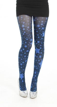 Starry tights. Very cute. Available in several colors.