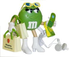 M&M Shopper FM Radio with Earbuds (Green) (Discontinued by Manufacturer) M&m Characters, Green Characters, M Wallpaper, My Favorite Color, My Favorite Things, M Image, M M Candy, Monday Humor, Melt In Your Mouth