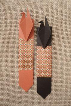 Paper Crane Bookmark | Origami boekenlegger #DIY