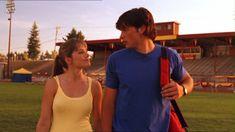 Devoted. Clark and Lois' football field stroll.