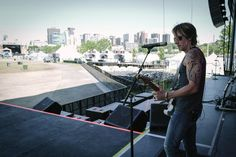 Soundcheck in Ottawa - showing off some new ink!