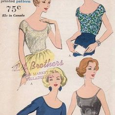 Image result for 50s scoop neck top