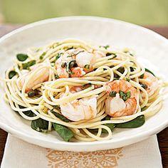 Superfast Mediterranean Recipes | Lemon Basil Shrimp and Pasta | CookingLight.com