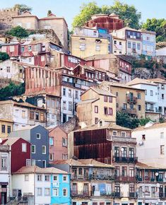 Porto houses - Legoland style 👀 It would be interesting to see how these houses look from the inside 😏 and the view they have over the… Porto City, Portuguese Culture, Douro, Spain And Portugal, London Travel, Spain Travel, Travel Around The World, Wonders Of The World, Travel Inspiration