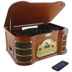 Pyle Home Ptcd54Ub Bluetooth(R) Vintage Style Turntable