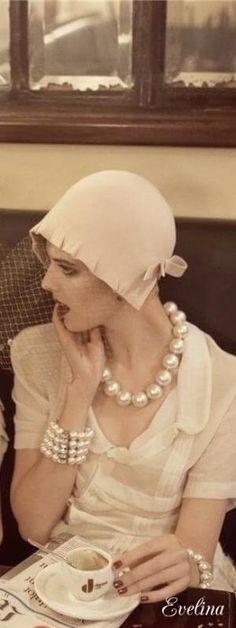 Tea time, Vintage Pearls by Andrea A. Elisabeth  ✿ ⊱╮VoyageVisuelle