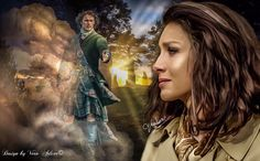 """Claire & Jamie Outlander  Claire's heart and soul already racing up the hill toward the center stone..."""""""