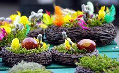 Пасхальный декор с березовыми ветками