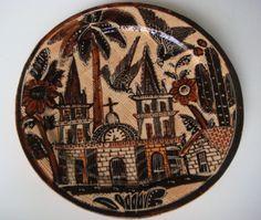 "Vintage ""petatillo"" (cross hatch pattern) plate by BALBINO LUCANO    http://www.mexicana-nirvana.com/catalog/item/7774067/9983264.htm"